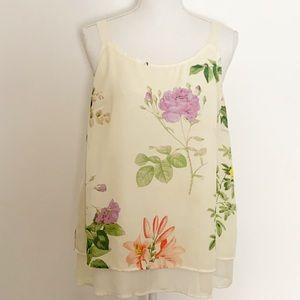 LANE BRYANT-Layered Floral Camisole. Size 14